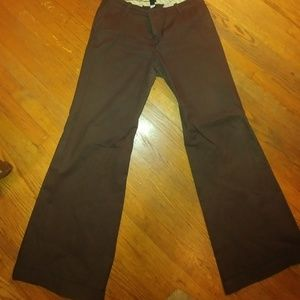 Gap Brown Cuff Trousers with Stretch. Size 16